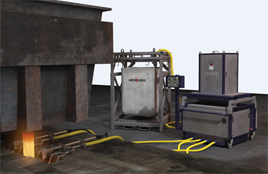 Automatic flux powder feeding
