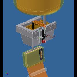 AMLC avec contrôle du débit par quenouille