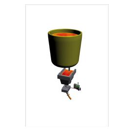 Distribution automatique de poudre en lingotière