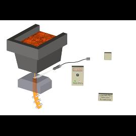Camera level sensor for open casting